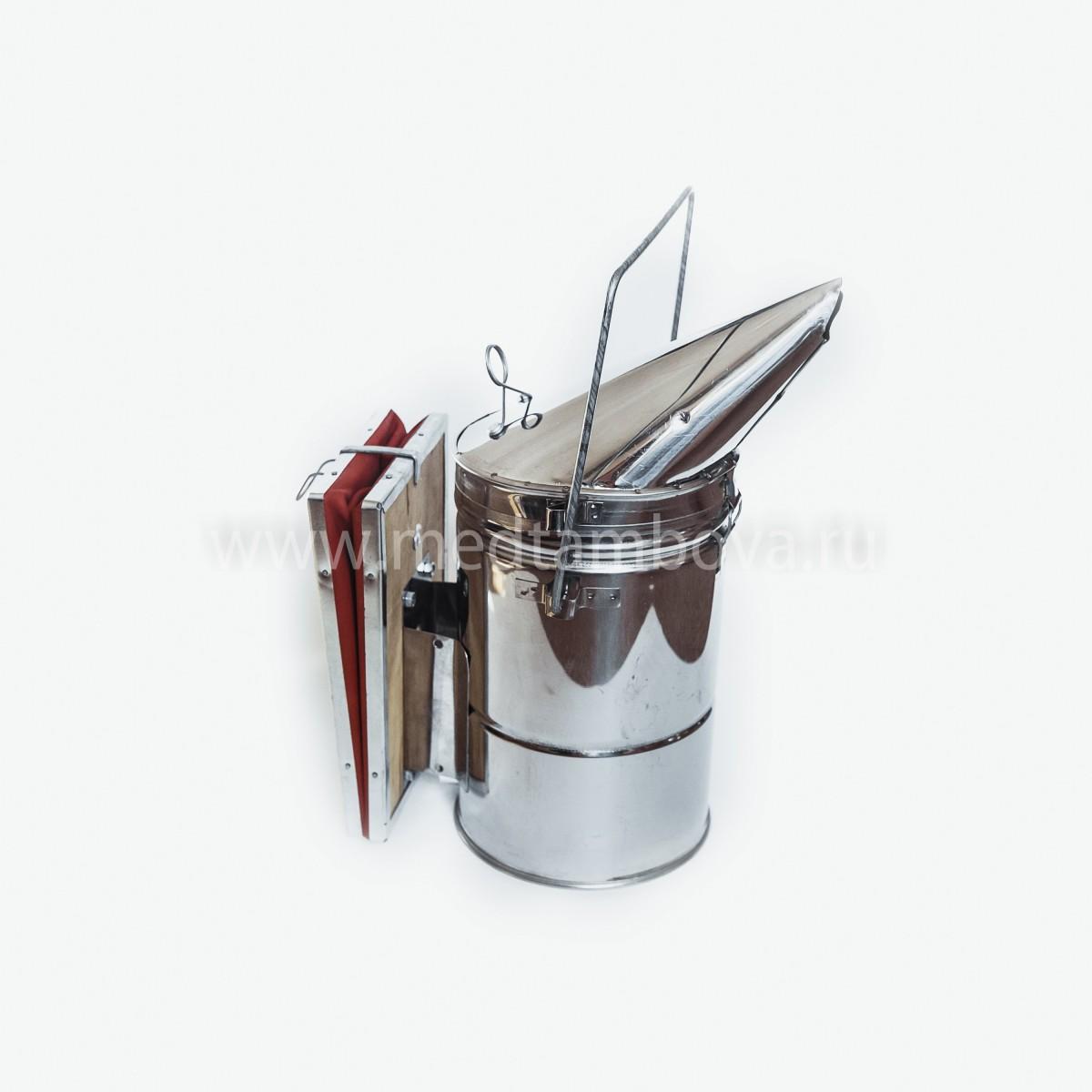 Дымарь нержавейка увеличенный мех кожаный D=135 мм