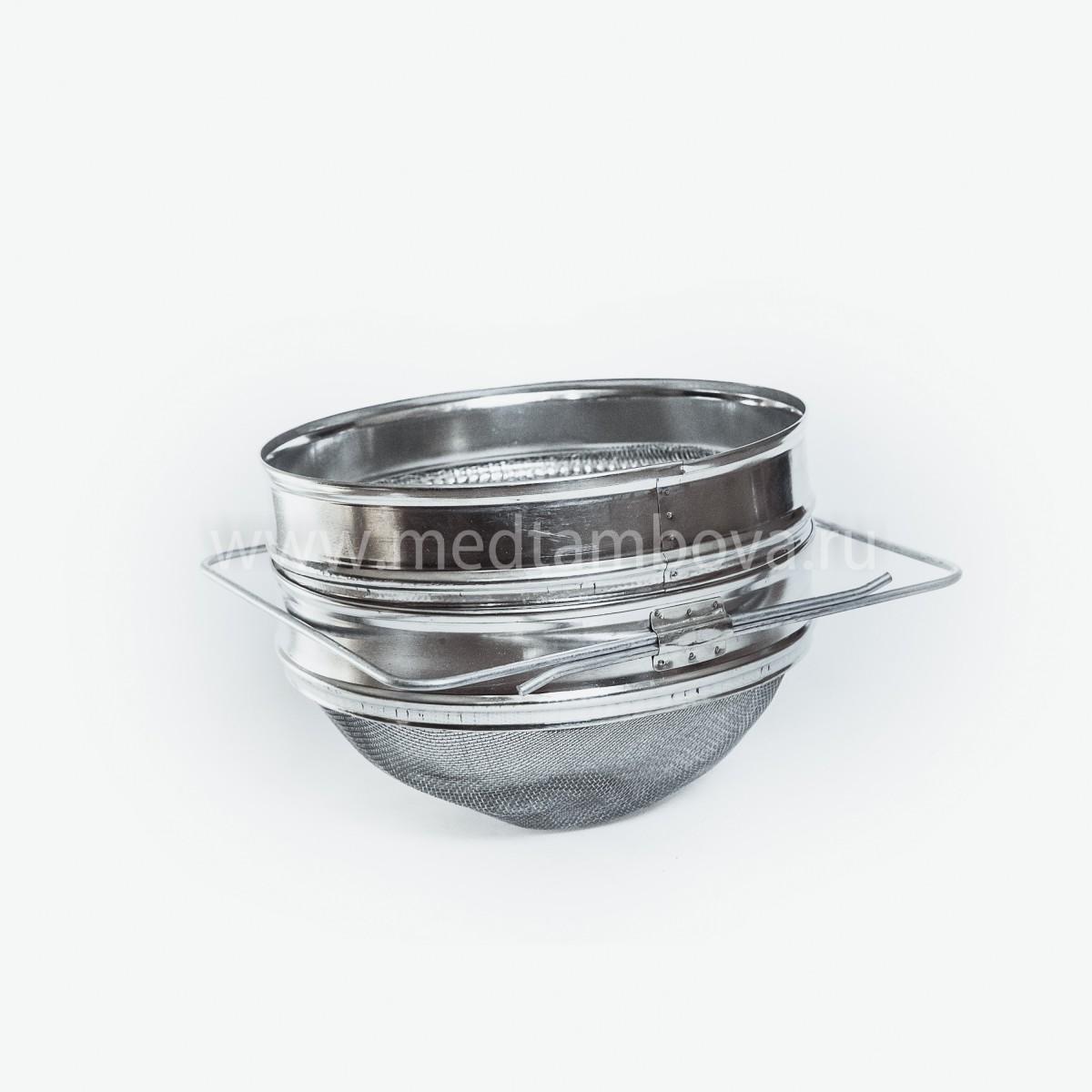 Сито-фильтр 200 мм нержавейка выпуклая сетка
