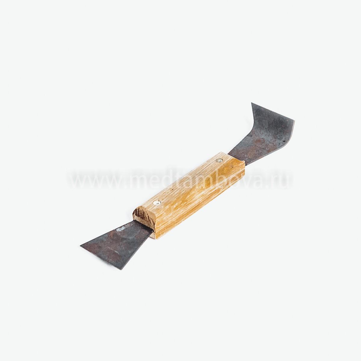 Стамеска стальная чёрная ручка деревянная 200 мм