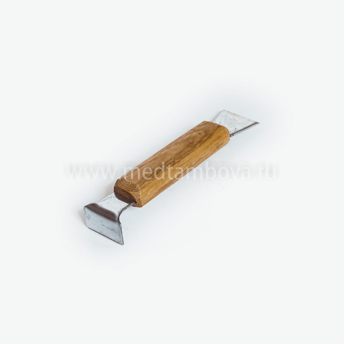 Стамеска деревянная ручка нержавейка 160 мм. (короткая)