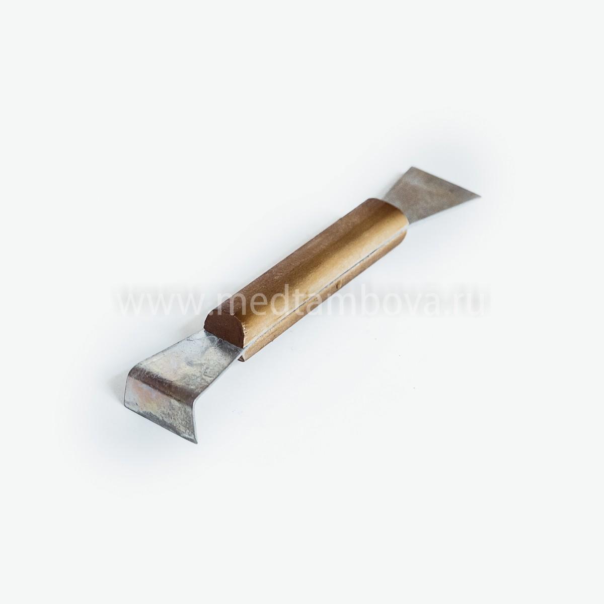 Стамеска деревянная ручка оцинкованная 200 мм.