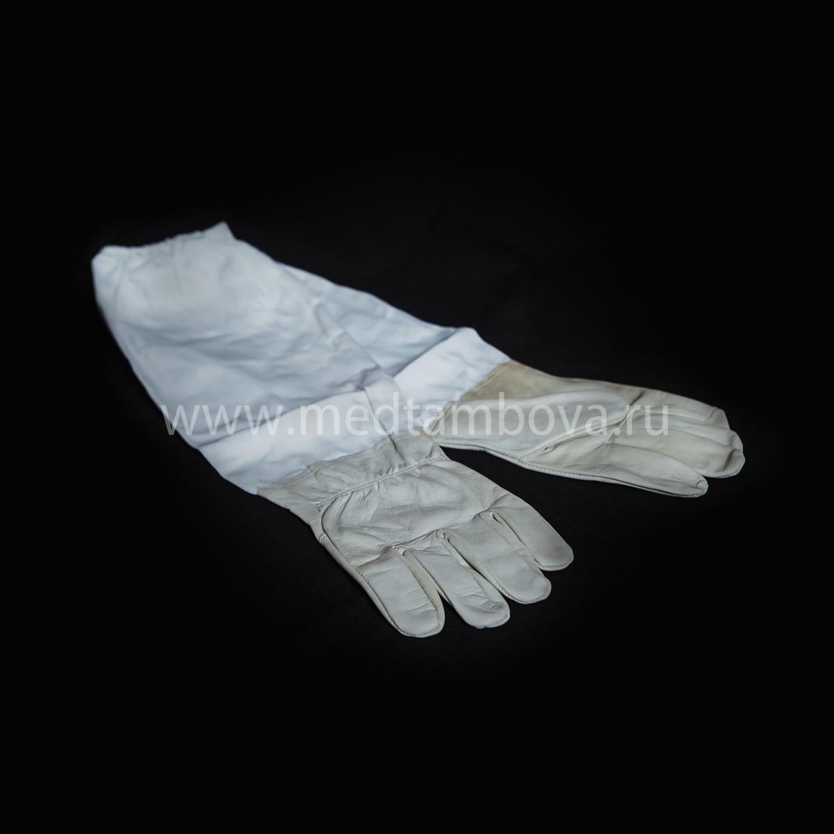 Перчатки кожаные с нарукавниками (Китай)