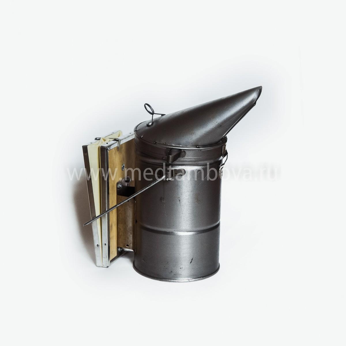 Дымарь стальной увеличенный мех кожзаменитель D=135 мм