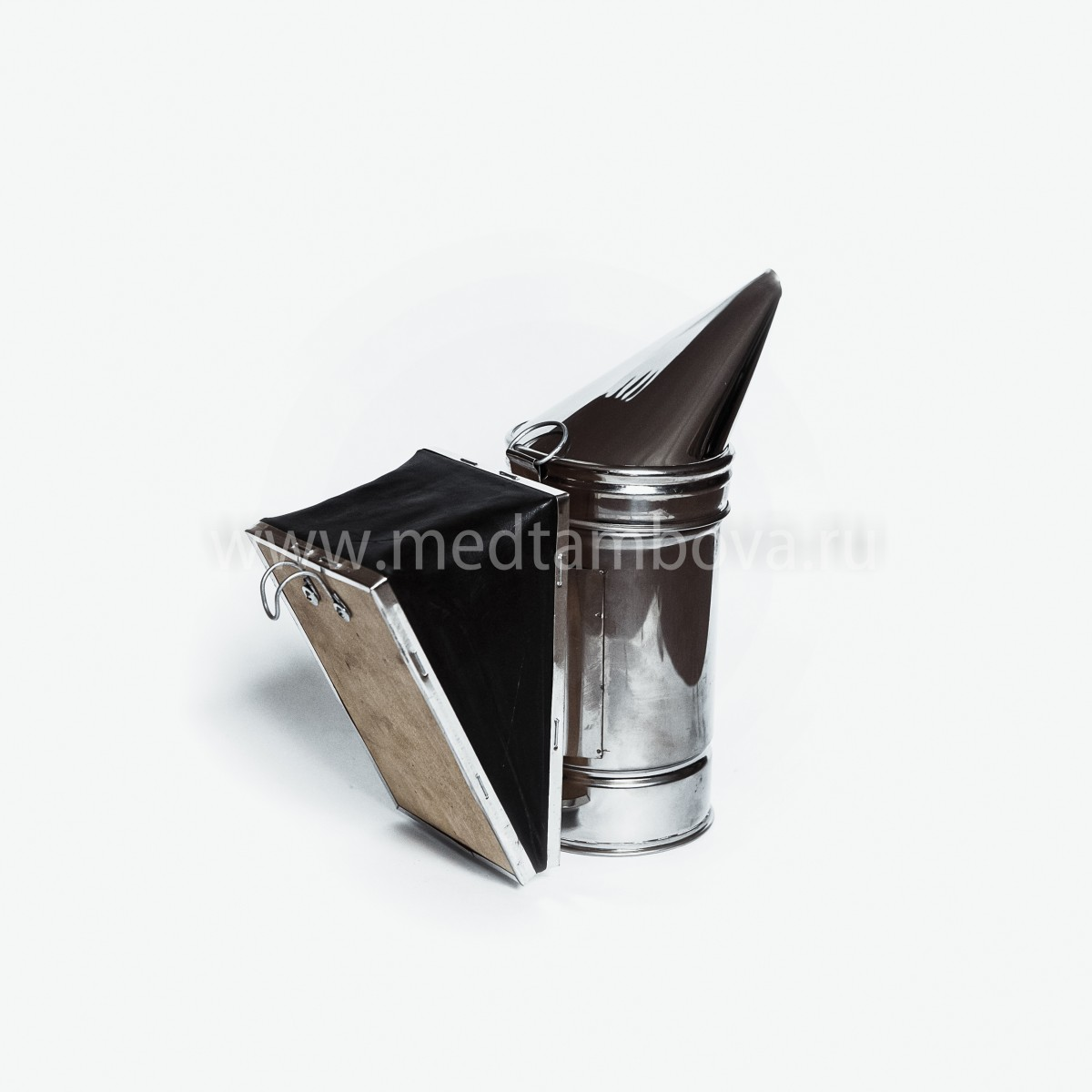 Дымарь нержавейка мех кожаный D=86 мм.