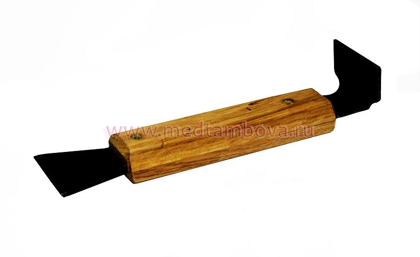 Стамеска деревянная ручка чёрная 160 мм